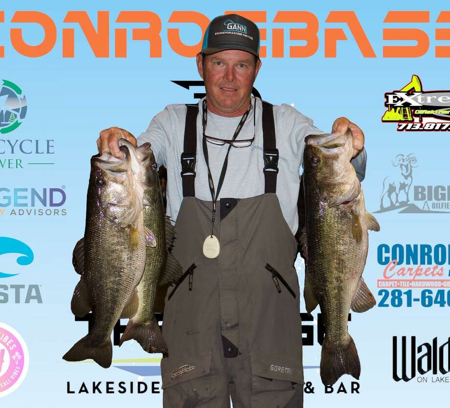 David Ballard won the year's opener CONROEBASS Tuesday night tournament with a stringer weight of 16.42 pounds. Photo: Conroe Bass