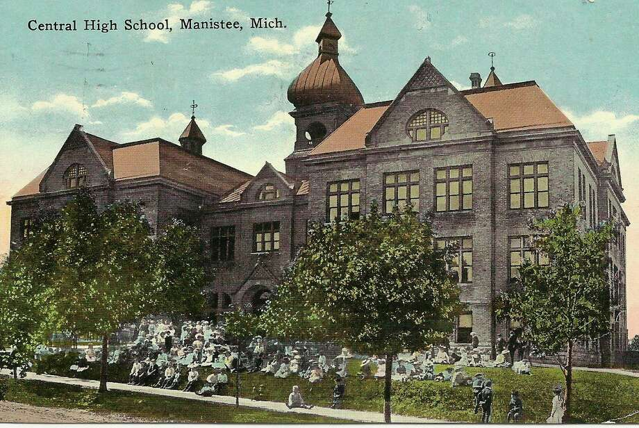 The Central High School building that came before Manistee High School is shown in this photograph from the very early 1900s.