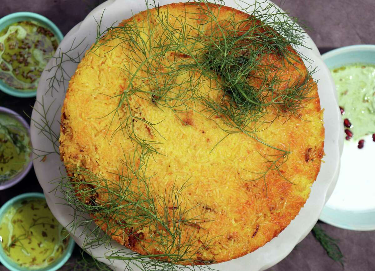 Persian Rice Ring is a traditional Iranian dish.