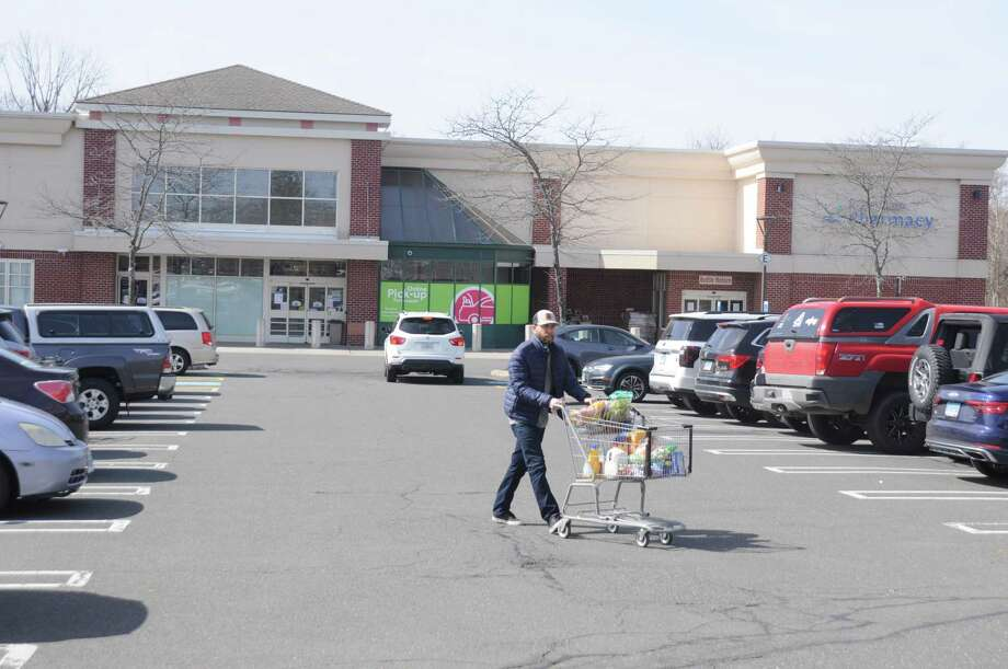 Shoppers have been out at Stop and Shop, preparing for long days at home. Photo: Macklin Reid / Hearts Connecticut Media