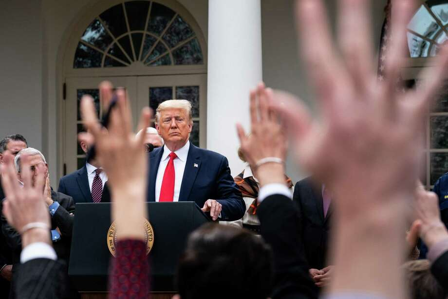 The public's view of how President Donald Trump is responding to the pandemic and economic fallout is a serious problem for him. Photo: Erin Schaff /New York Times / NYTNS