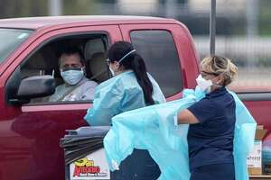 As more people are tested for coronavirus in Bexar County, including at this drive-up test site, more cases are emerging. A woman in her 80s was the first person in Bexar County to die from a coronavirus infection. She died on Saturday, March 21, 2020, while in hospice care.