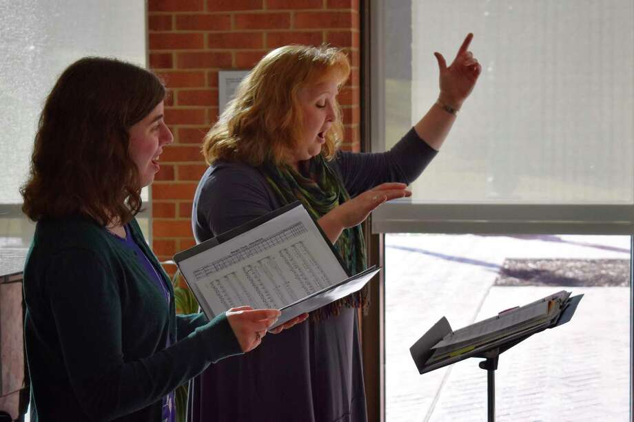 The first live video rehearsal took place Tuesday afternoon, led by choral directors Heather DeGroot and Anna Doering, alongside accompanist, Dorothy Marinan.(Photo provided/Midland Center for the Arts)