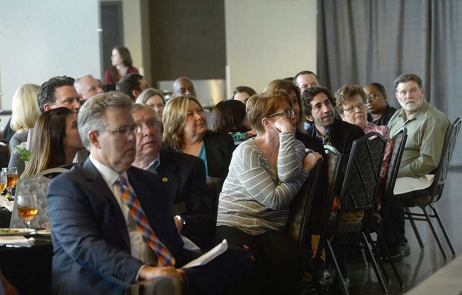 The crowd listens as Mayor Becky Ames presents the annual State of the City, hosted by the Beaumont Chamber of Commerce Thursday. Photo taken Thursday, February 28, 2019 Kim Brent/The Enterprise Photo: Kim Brent / The Enterprise / BEN