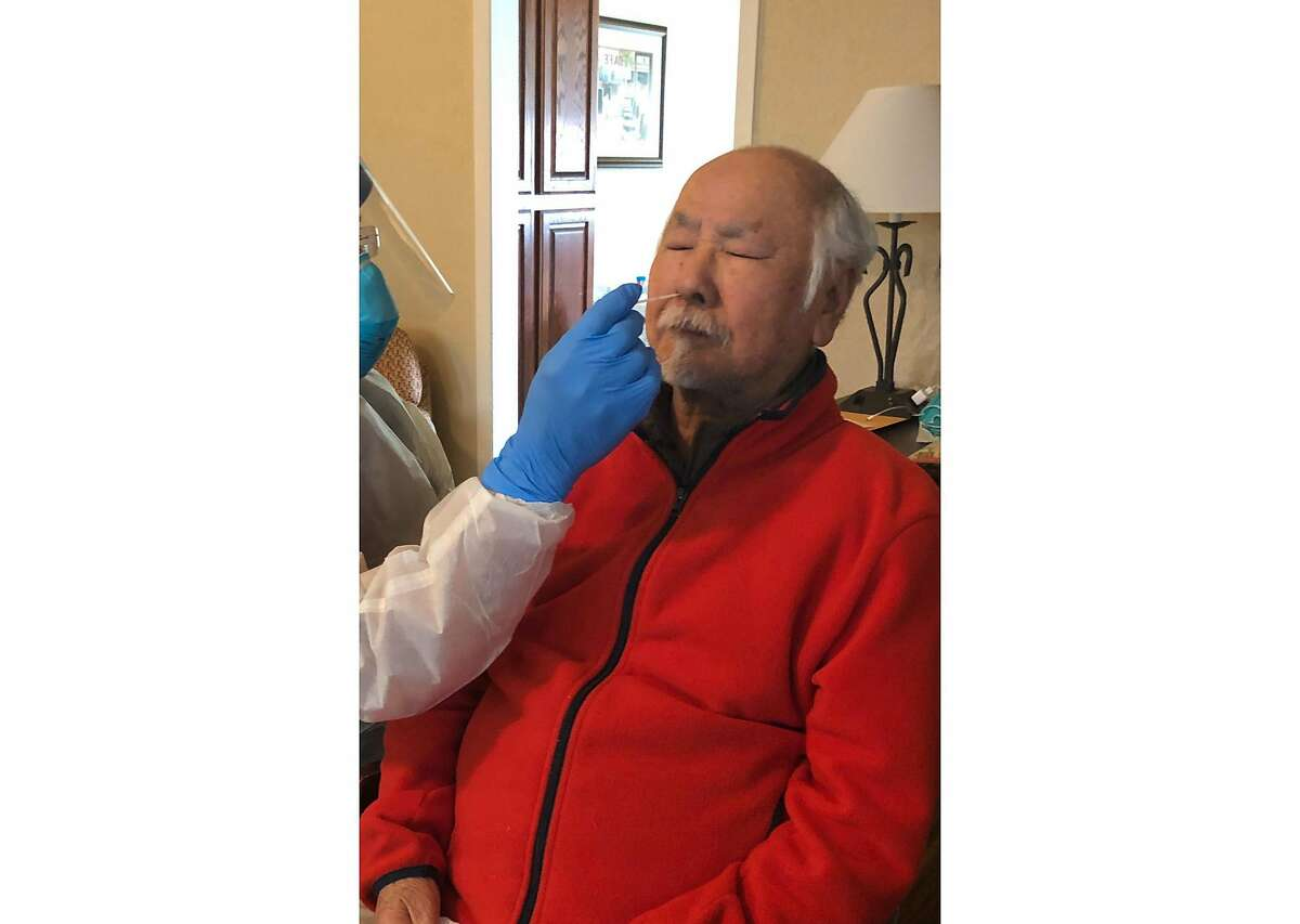 Henry Serata, an 87-year-old Bay Area resident, was tested Sunday for coronavirus at his Travis Air Force Base apartment that he has been quarantined in since he disembarked from the Grand Princess cruise ship. Most of the other passengers have declined to get tested.