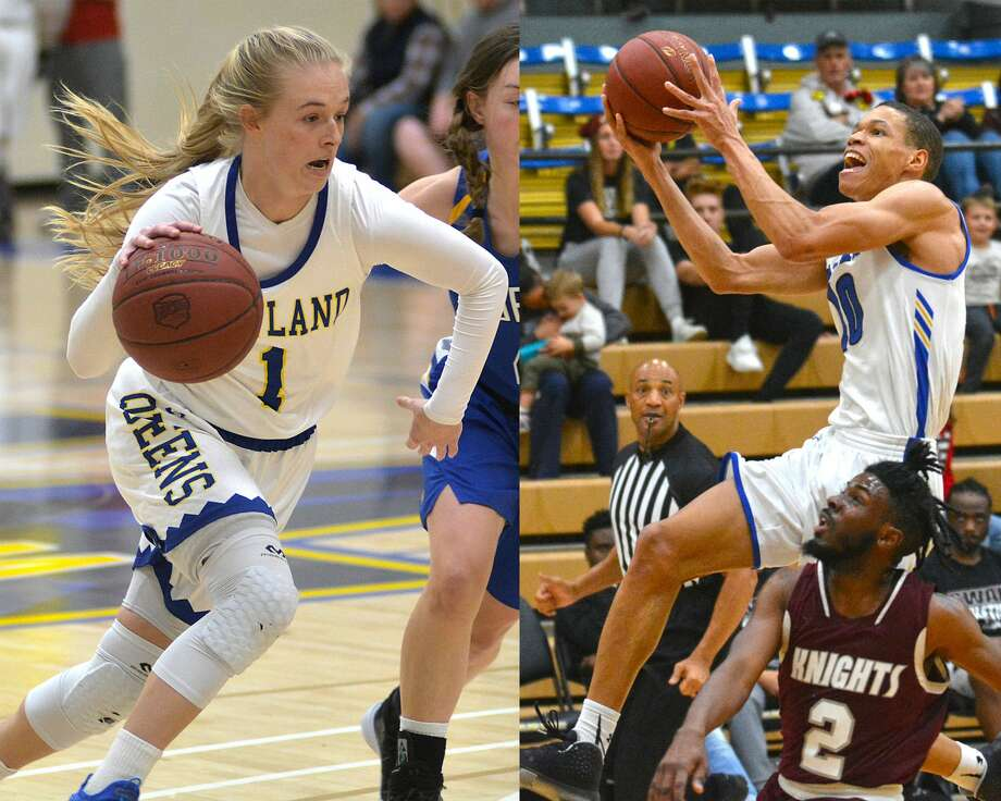 """Seniors Morgan Bennett and J.J. Culver will go down as two of the best to ever put on the uniform for Wayland Baptist basketball teams. Due to the unexpected early conclusions to their season, they'll also be left to ask """"what if?"""" Photo: Nathan Giese/Planview Herald"""