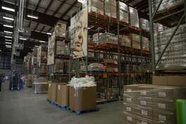 H-E-B dropped off a load of 56,000 pounds of protein Wednesday, March 18, 2020 at the West Texas Food Bank in Odessa. The West Texas Food Bank is stocked at both locations. Jacy Lewis/Reporter-Telegram