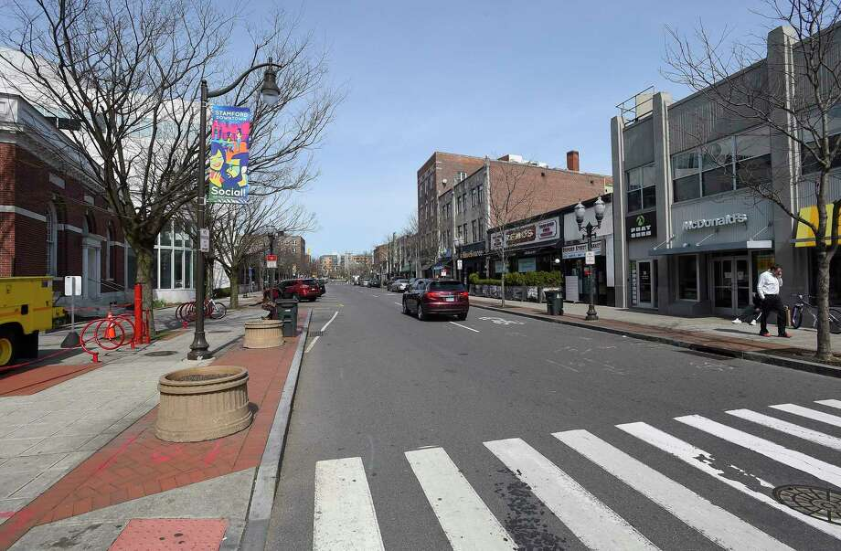 A look at Bedford Street on March 18, 2020 in Stamford, Connecticut. Photo: Matthew Brown / Hearst Connecticut Media / Stamford Advocate