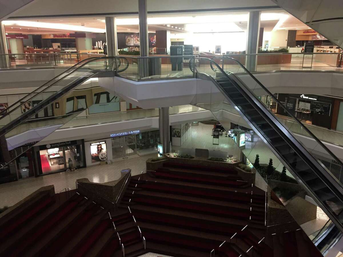 A view from inside Stamford Town Center at approximately 8 p.m., on Tuesday, March 17, 2020. At that point, the mall had moved to reduced hours, in response to the COVID-19 pandemic.