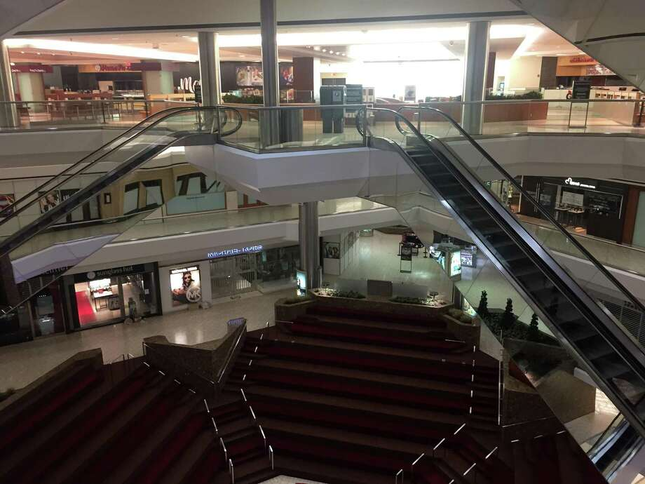 A view from inside Stamford Town Center at approximately 8 p.m., on Tuesday, March 17, 2020. At that point, the mall had moved to reduced hours, in response to the COVID-19 pandemic. Photo: File Photo