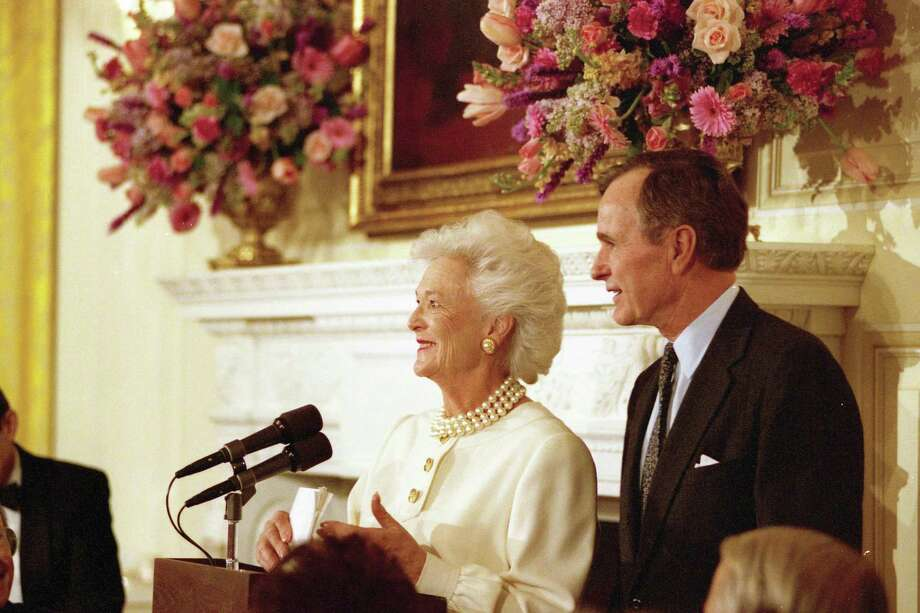 Barbara Bush hosts a luncheon and reception to announce the Barbara Bush Foundation for Family Literacy at the White House in March 1989. Photo: George Bush Presidential Library And Museum