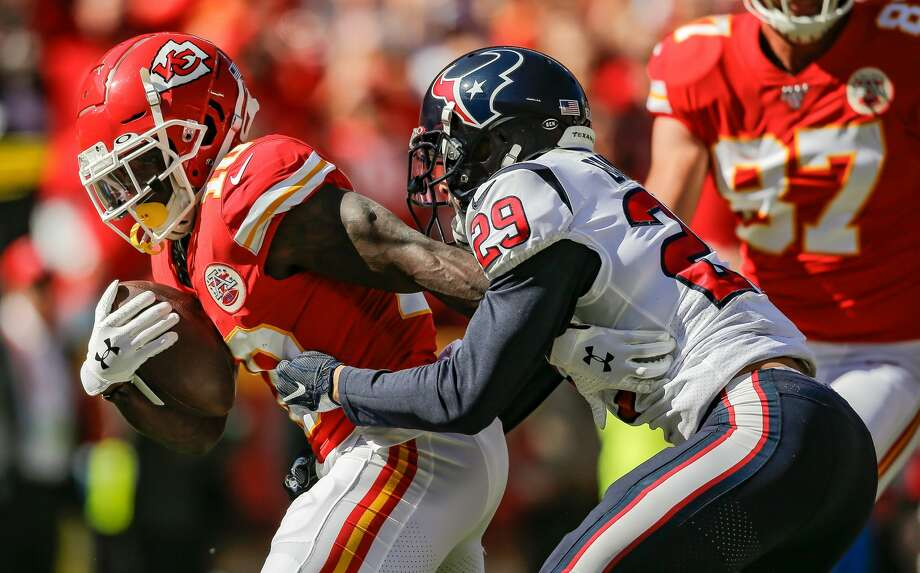 The Texans will try to slow down Tyreeek Hill and the Chiefs in the season opener Thursday night in Kanas City. Photo: David Eulitt/Getty Images