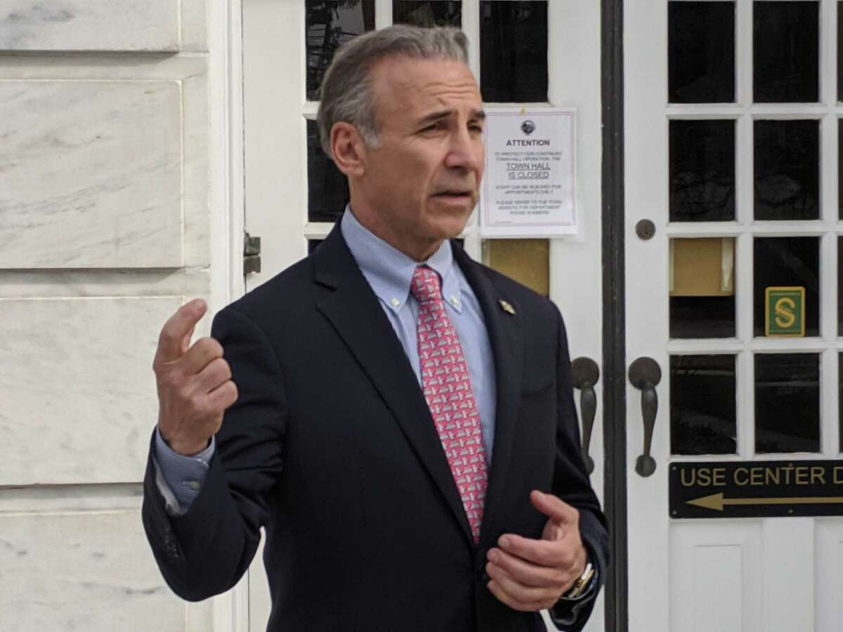 First Selectman Fred Camillo said residents need to practice social distancing or else additional steps like closing town beaches and parks may have to be explored.