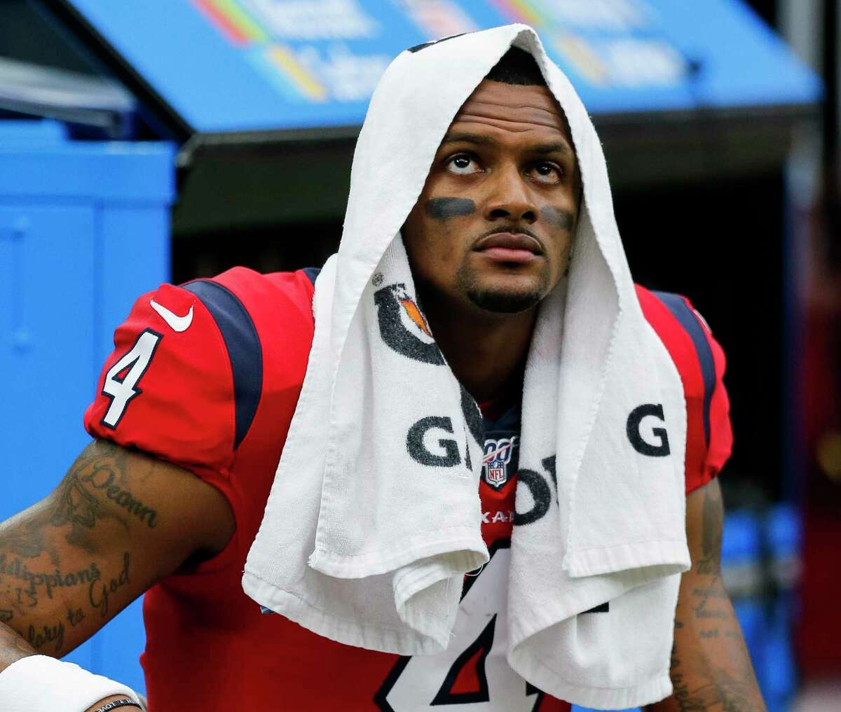 Texans quarterback Deshaun Watson faces a future without wide receiver DeAndre Hopkins, who was a first-team All-Pro in each of Watson's three NFL seasons.