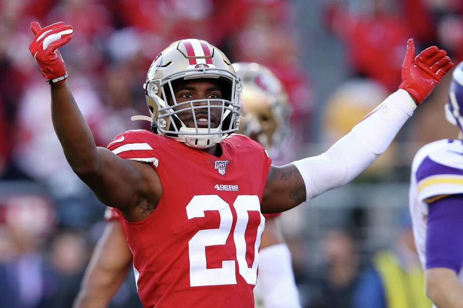 SANTA CLARA, CALIFORNIA - JANUARY 11: Jimmie Ward #20 of the San Francisco 49ers reacts after a play against the Minnesota Vikings during the NFC Divisional Round Playoff game at Levi's Stadium on January 11, 2020 in Santa Clara, California. (Photo by Sean M. Haffey/Getty Images) Photo: Sean M. Haffey / Getty Images / 2020 Getty Images
