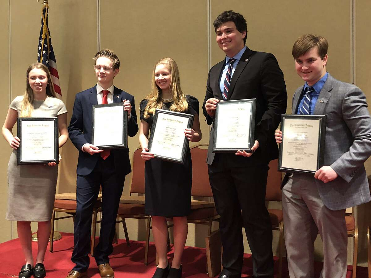 On March 14, Victor Gelfuso, a 12th grader at Richfield Springs Central School in Otsego County, won the New York State Championship of the American Legion Constitution Oratorical Scholarship Contest at the Desmond Hotel in Colonie and was awarded a $6,000 scholarship. His speech was