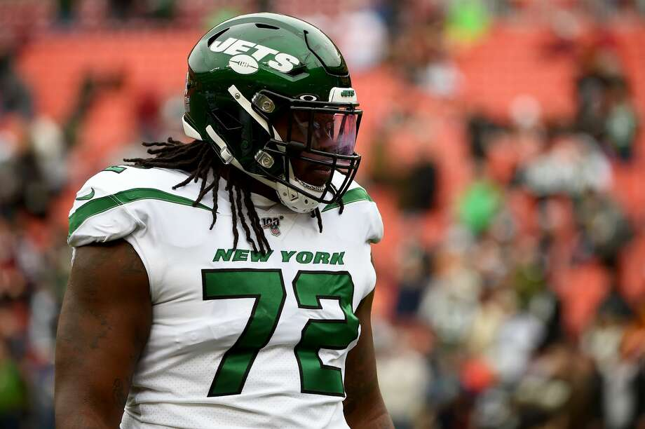 According to reports, the Seahawks have agreed on a two-year deal worth $11 million with former New York Jet Brandon Shell, essentially making him Seattle's new starting right tackle. Photo: Will Newton/Getty Images / 2019 Will Newton