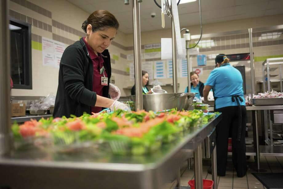 The district will be offering free lunches to children ages 1-18 and all Humble ISD students during the closure of schools.Families can pick up the free lunches by driving up or walking up to stations at Elm Grove Elementary, Oaks Elementary, Ridge Creek Elementary, River Pines Elementary, Humble Middle School and Ross Sterling Middle School. Photo: Courtesy Of Johnathan Frey/Humble ISD / Courtesy Of Johnathan Frey/Humble ISD