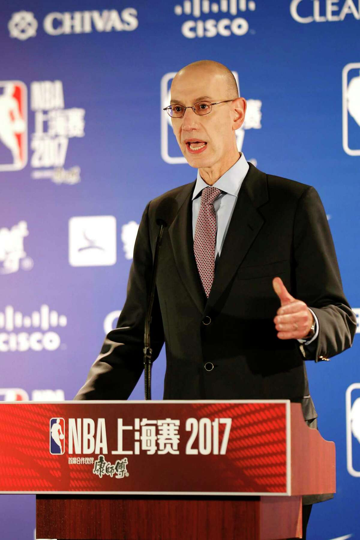 With the public starved for sports entertainment, NBA Commissioner Adam Silver says the idea of a fund-raiser game has been discussed.