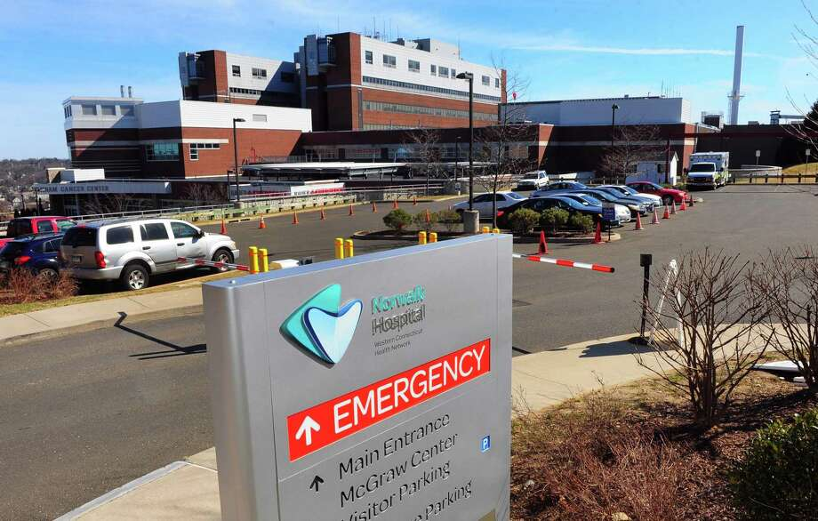 Aview of Norwalk Hospital in Norwalk, Conn., on Saturday Mar. 7, 2020. A drug that targets cancers with a specific mutation is the subject of two new trials at Norwalk and Danbury hospitals. Photo: Christian Abraham / Hearst Connecticut Media / Connecticut Post