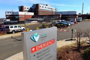 Aview of Norwalk Hospital in Norwalk, Conn., on Saturday Mar. 7, 2020. An employee who works at this hospital, but is a resident of New York, has tested positive for the coronavirus.