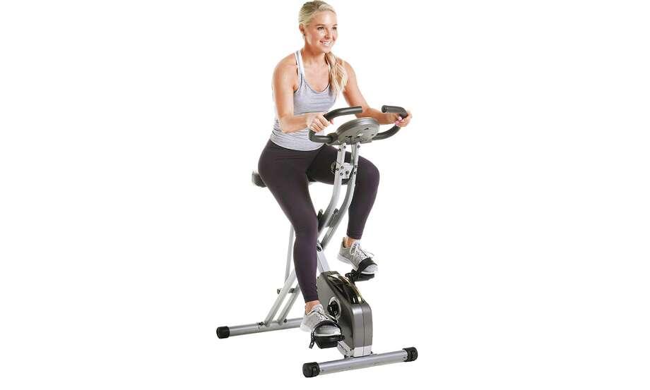 Exerpeutic Folding Magnetic Upright Exercise Bike, $149.99 (Normally $199.99) Photo: Amazon