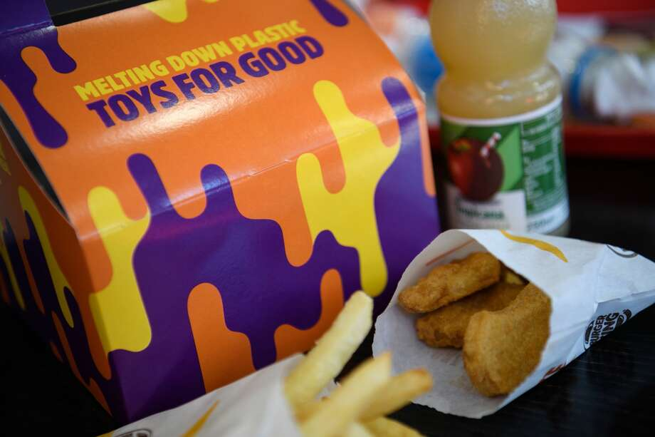 """A kids meal box advertising the Burger King 'Meltdown"""" promotion on September 19, 2019 in London, England. Photo: Leon Neal/Getty Images"""