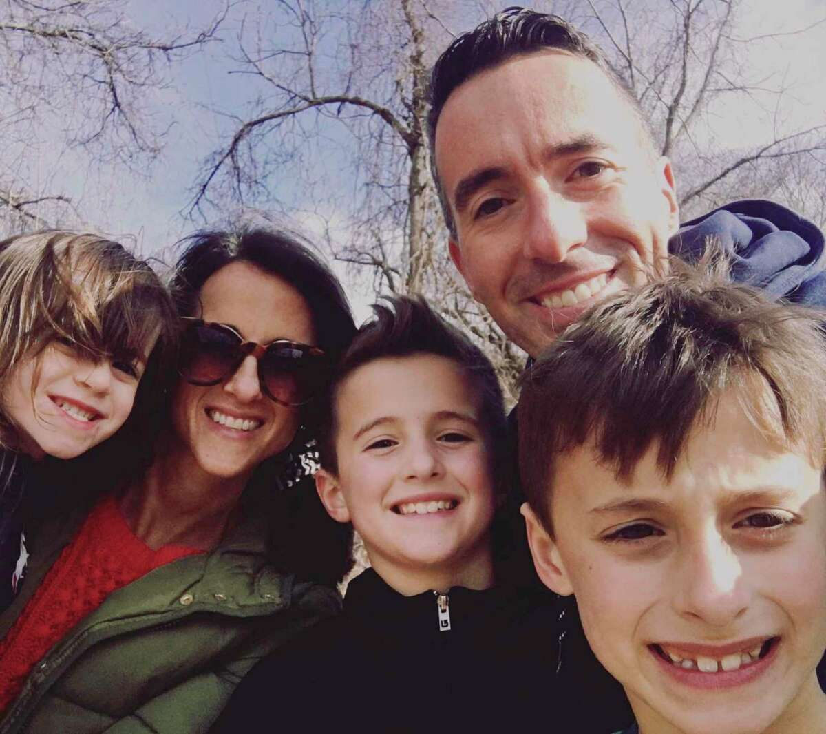 The Naddeo family, of Bethel, goes for a hike on Sunday in Tarrywile Park in Danbury. From left to right: Ava Naddeo, Diana Naddeo, Russell Naddeo, James Naddeo and Dylan Naddeo.