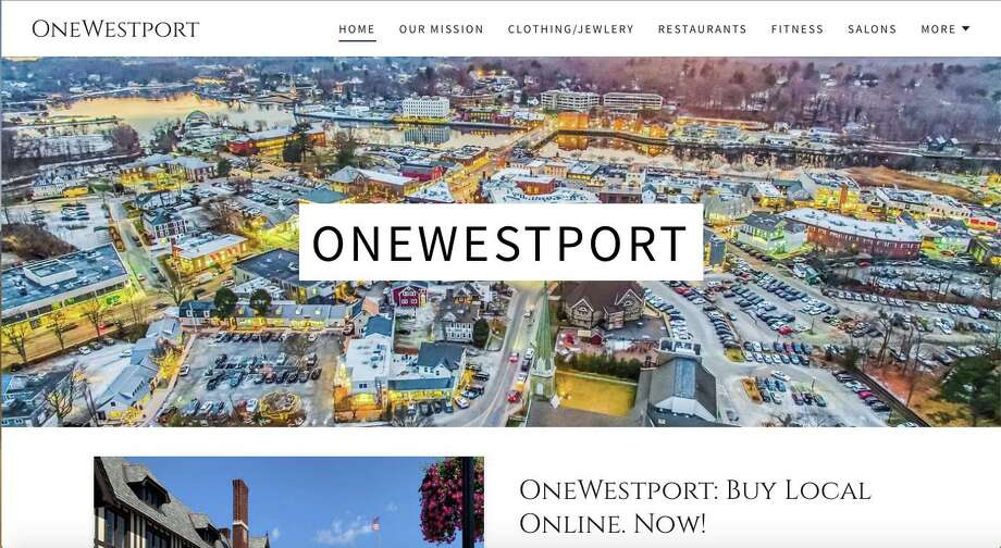 OneWestport.com is a new site that helps Westporters continue to support local businesses. Photo: OneWestport.com /