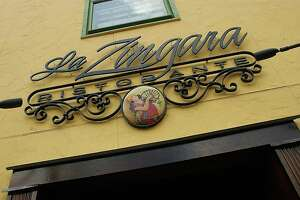 sign for La Zingara in Bethel