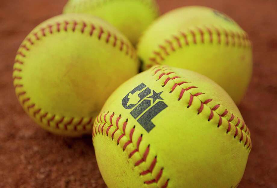 A softball with the logo of the University Interscholastic League is seen before a Class 5A semifinal game during the UIL State Softball Championships at Red and Charline McCombs Field, Friday, June 2, 2017, in Austin. Photo: Jason Fochtman, Staff Photographer / Houston Chronicle / © 2017 Houston Chronicle