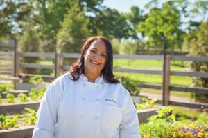 Neena Perez, manager of the Commons at Grace Farms in New Canaan, is leading a team to cook meals for people in need who are served by Fairfield County organizations.