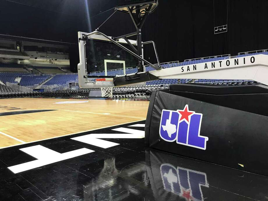 An empty Alamodome after the UIL boys basketball state tournament was suspended on Thursday, March 12, 2020 due to the spread of the coronavirus. Photo: Matt Young / Houston Chronicle