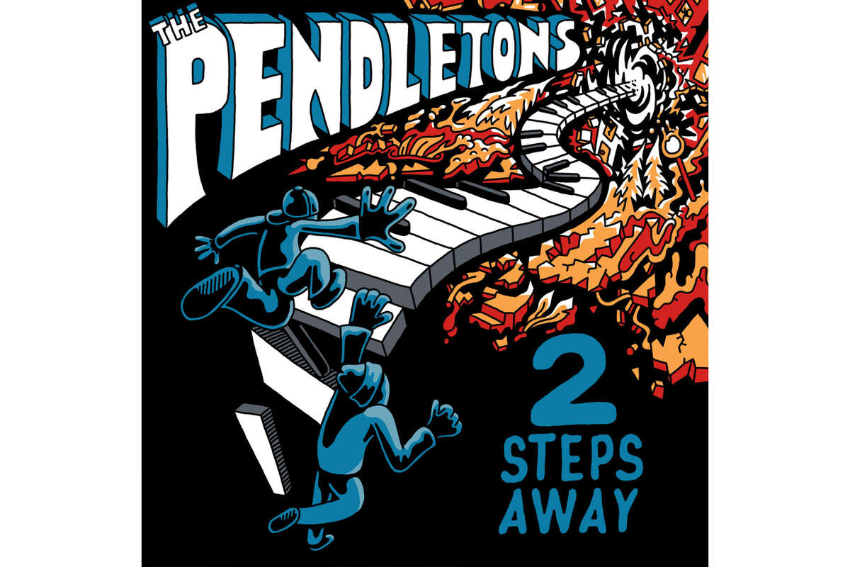 """The Pendletons """"2 Steps Away"""" """"The Pendletons take a bold step with their first full length album, 2 Steps Away, releasing this spring on the Bastard Jazz imprint. """"Recorded in San Francisco with a rock-solid band consisting of some of the best musicians in the Bay Area, including guitarist Carl Locket (Shalamar, Rick James) and Star Creature recording artist Elive, the duo taps into a classic soul/boogie sound that rides a wave of '70s and early '80s funk with ease but somehow remains true to the excitement of those classic recordings without being overly nostalgic. The music shines, as does the songwriting, which is honest, undiluted and spiritually inspired. Disco horns, heavy percussion and slap bass punctuate dance floor burners, which give way to sweet soul steppers, making for a blissful balance on the 9 song album."""" - Bandcamp"""