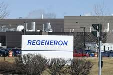 Exterior view of the Regeneron Plant Thursday February 18, 2016 in Rensselaer, N.Y. (Skip Dickstein/Times Union)