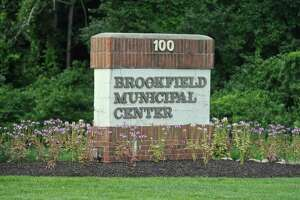 The entrance to the Brookfield Municipal Center. Thursday, August 10, 2017, in Brookfield, Conn.