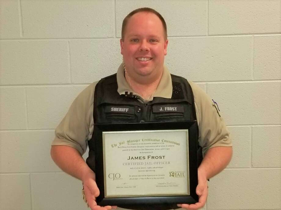 Manistee County corrections officer James Frost recently earned a national certification for jail officers. (Courtesy photo)