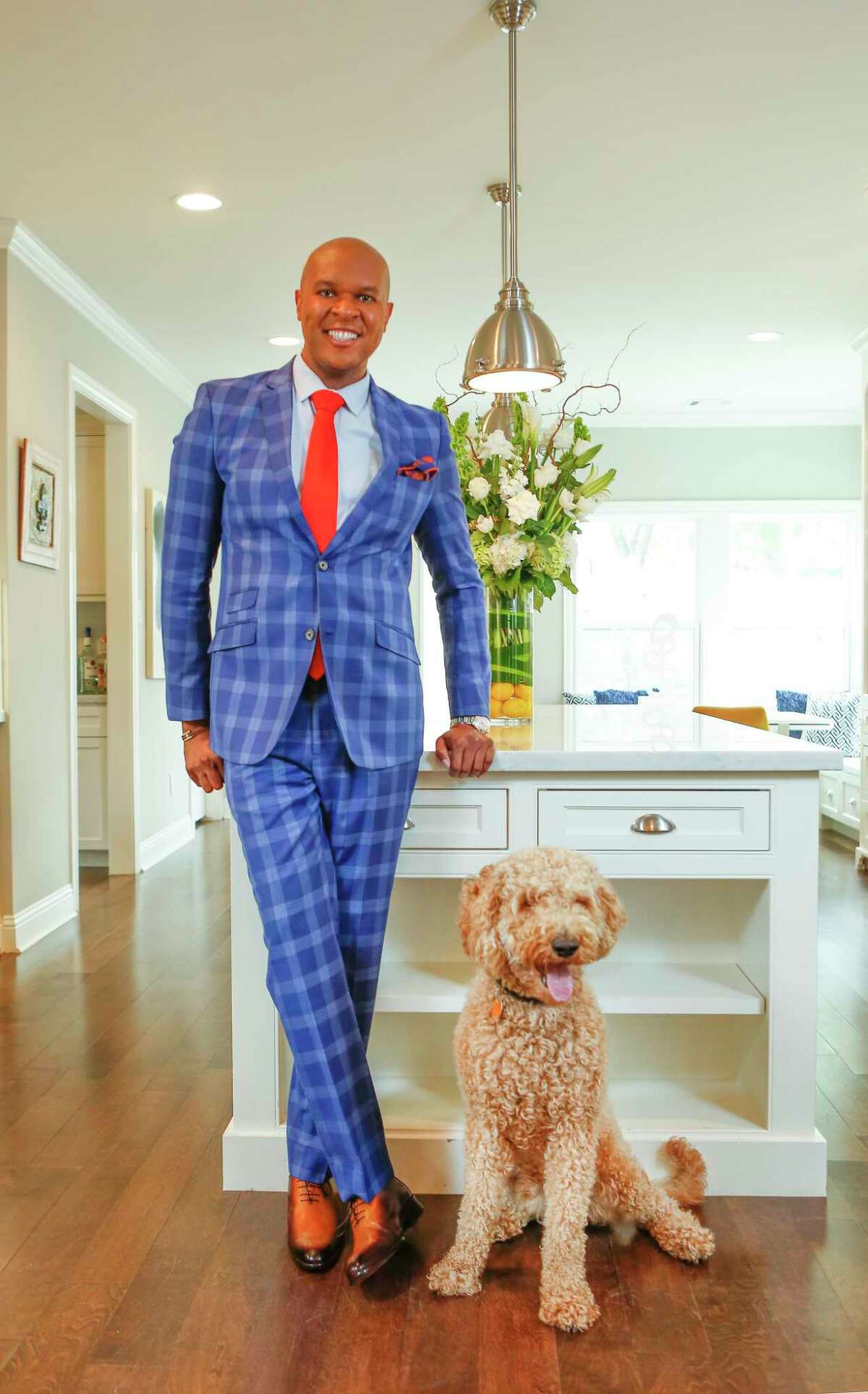Travis Torrence, head of Shell's Global Litigation Bankruptcy & Credit Team and his dog, Grits