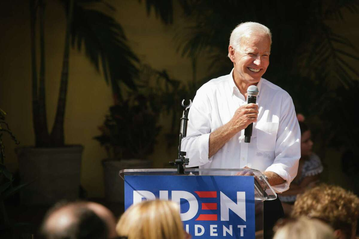 FILE -- Former Vice President Joe Biden, a Democratic presidential candidate, speaks at a campaign event in Miami, Sept. 15, 2019. Biden easily defeated Sen. Bernie Sanders (I-Vt.) in the Florida and Illinois primaries, all but extinguishing Sanders's chances for a comeback on an Election Day conducted amid a series of cascading disruptions from the coronavirus pandemic. (Alicia Vera/The New York Times)