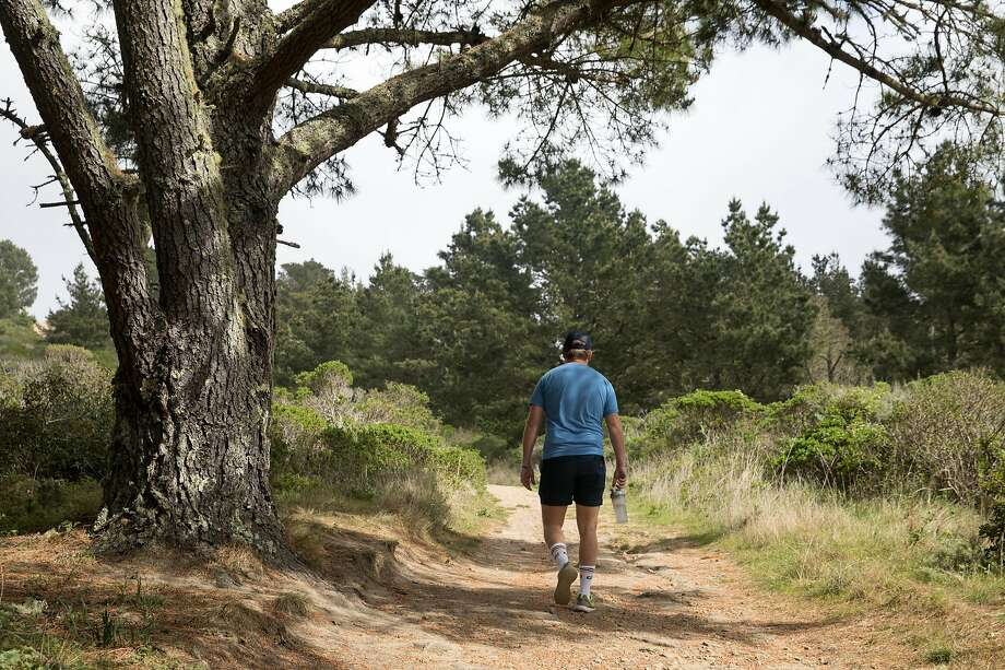 The Sweeney Ridge hike includes steep climbs, coastal forests and great views on the way to the S.F. Bay Discovery Site. Photo: Douglas Zimmerman / Hearst Newspapers