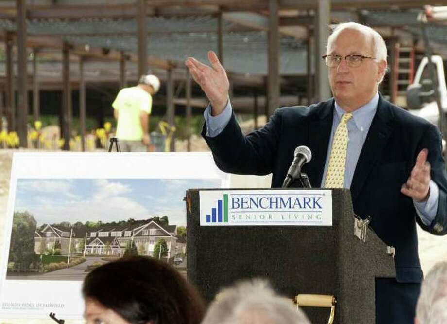 Benchmark Senior Living founder Tom Grape in September 2017 at the construction site for the Sturges Ridge at Fairfield assisted living facility in Fairfield, Conn. Photo: PRNewswire