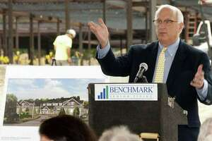 Benchmark Senior Living founder Tom Grape in September 2017 at the construction site for the Sturges Ridge at Fairfield assisted living facility in Fairfield, Conn.