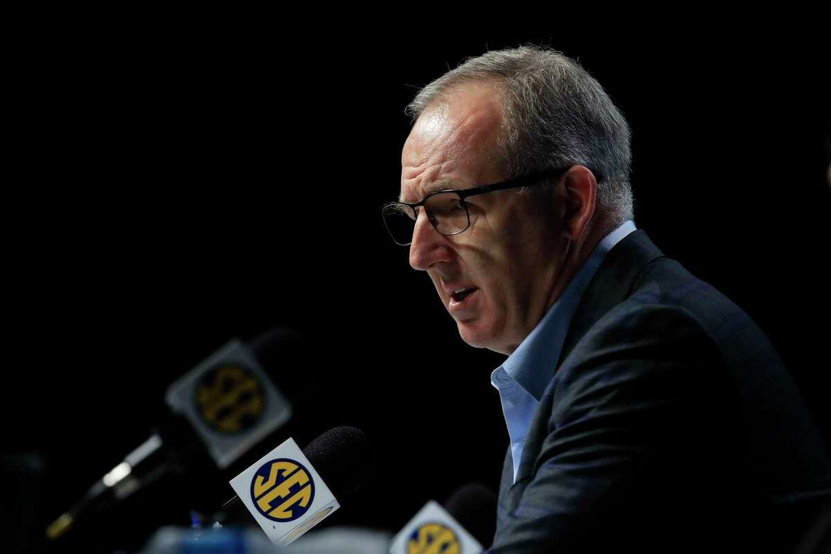 Greg Sankey is hopeful that football will be on schedule for the SEC in the fall but as with many things there are no clear answers because of the coronavirus.
