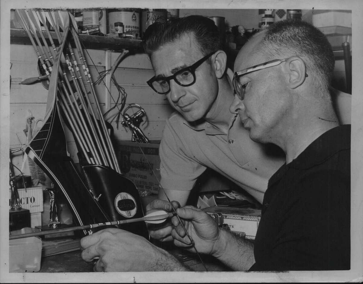 Albany, New York sports store - Tom Lemme and Les Yaggle. August 14, 1963 (Times Union Archive)