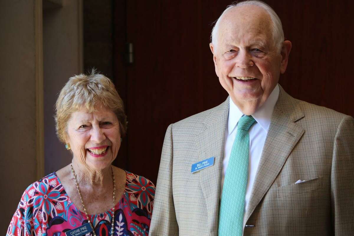 Cathie Pike with her husband, William, of New Canaan, who died Wednesday at age 91.