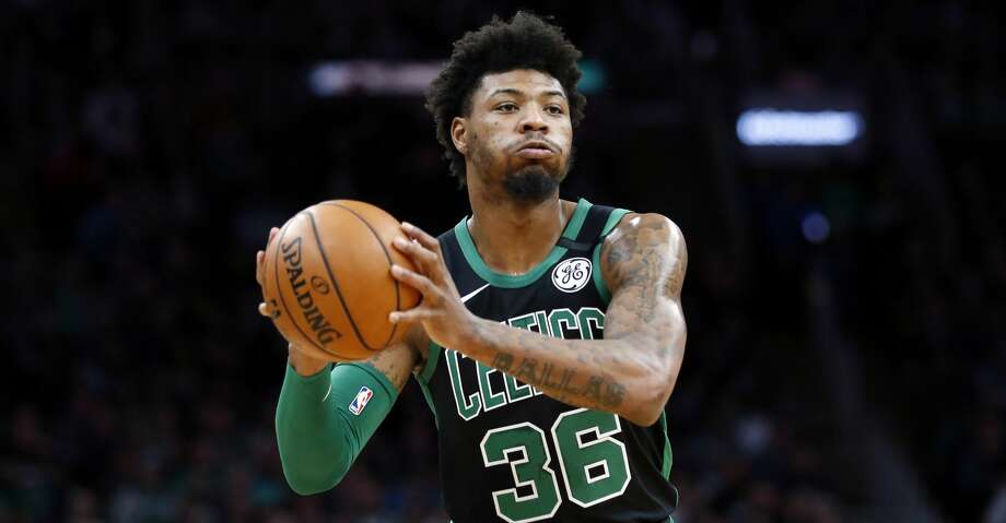 Boston Celtics' Marcus Smart plays against against the Oklahoma City Thunder during an NBA basketball game, Sunday, March, 8, 2020, in Boston. (AP Photo/Michael Dwyer) Photo: Michael Dwyer/Associated Press / Copyright 2020 The Associated Press. All rights reserved