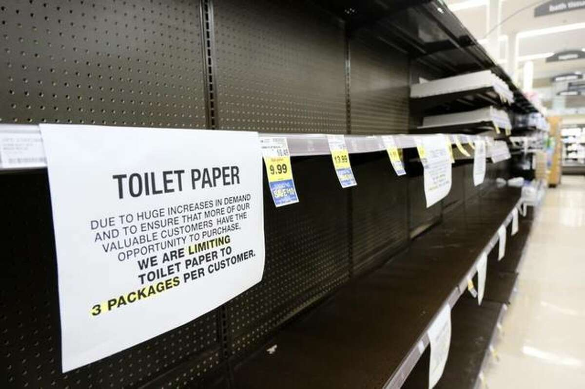 FILE--While toilet paper is flying off the shelves again, companies like P&G are trying to keep up with demand.