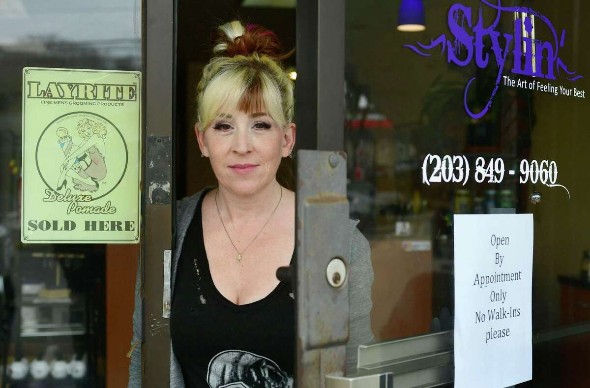Emilie Forcellina, owner of Stylin' salon on Main Avenue in Norwalk, said she will use the extra time before reopening to stock up on personal protective equipment.