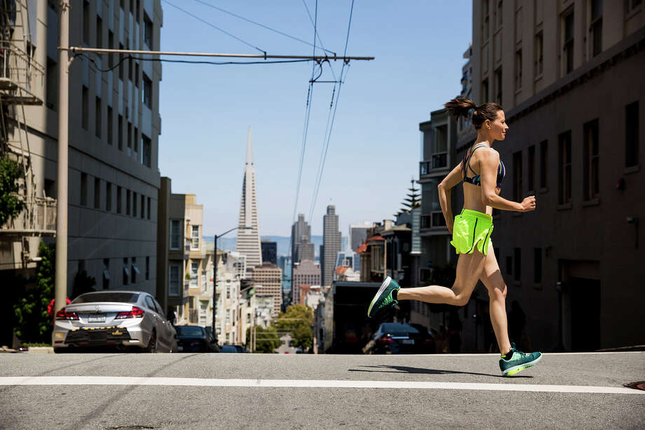 So long as you maintain a distant of six feet from pedestrians and other runners, jogging is allowed. Photo: Jordan Siemens/Getty Images / Jordan Siemens