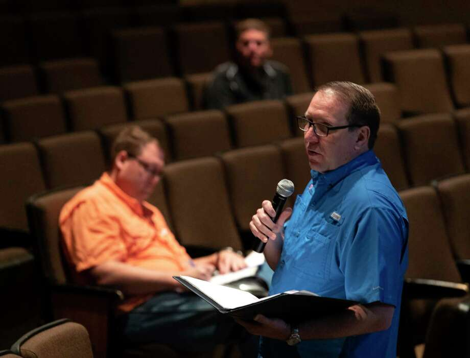 Superintendent Curtis Null speak he addresses the district's response to coronavirus during a meeting with administrators at Conroe High School, Monday, March 16, 2020, in Conroe Photo: Jason Fochtman, Houston Chronicle / Staff Photographer / Houston Chronicle  © 2020